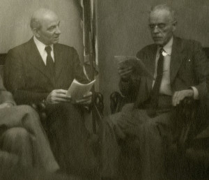Krayer with Paul Dudley White who chaired the Unitarian Service