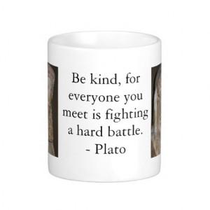 Plato famous quote coffee mug