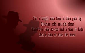 Simple Man - Elton John Song Lyric Quote in Text Image