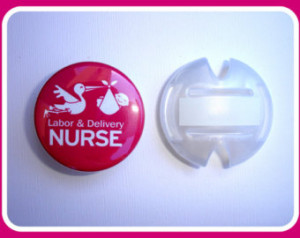 Stethoscope tag - id - Labor & Deli very Nurse - Dark Pink or Blue ...