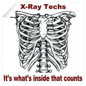 CafePress > Wall Art > Wall Decals > X-Ray Techs Inside Wall Decal