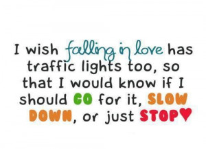 Funny falling in love quote