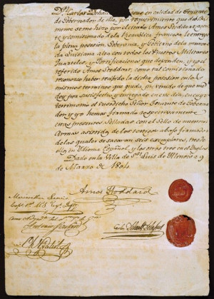One of the documents that transferred Upper Louisiana to the United ...