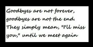 Today we say Goodbye :(((