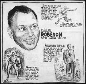 Robeson addressing the 1943 NMU convention in New York City: