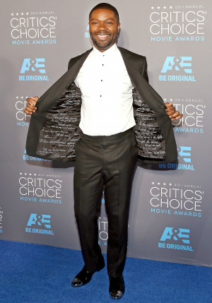 David Oyelowo Lines Suit Jacket With Lyrics to MLK's Favorite Song at ...