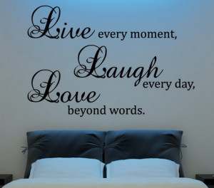 Family Love Quotes and Sayings Wall Decals for Bedroom Interior Wall ...