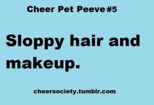 cheer #makeup #hair #quote