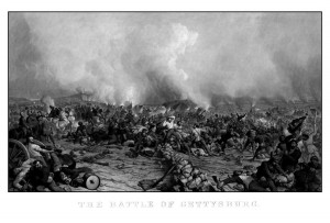 The Battle Of Gettysburg Drawing