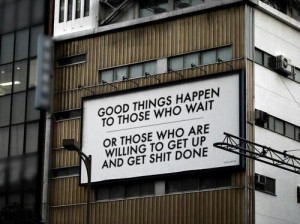 Good things happen when...