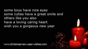 ... caring heart wish you a gorgeous new year new year sms to boyfriend