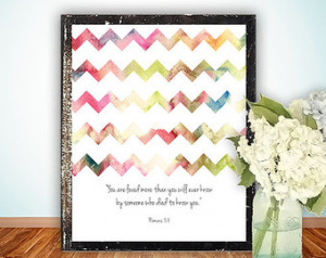 Scripture art , Christian wall decor poster, Inspirational quote ...