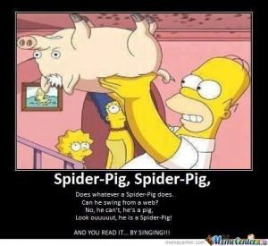 Homer Simpson's Spider-Pig