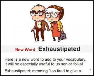 Seniors humor - a new word