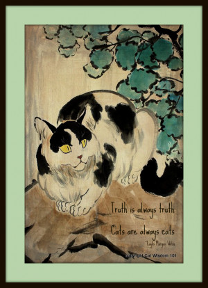 There is something so Zen about cats that they have inspired poets ...