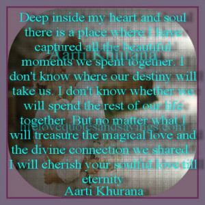 deep inside my heart and soul there is a place where i have captured ...