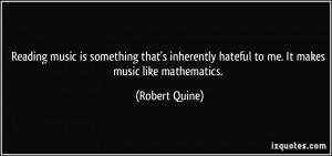 More Robert Quine Quotes