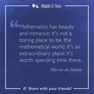 Marcus du Sautoy #MathQuote