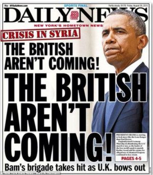 Daily News: The British Arent Coming!