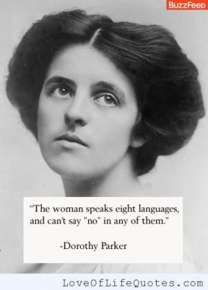 Dorothy Parker quote on slutty women