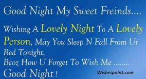 Good Night Pictures Sms