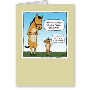 Funny birthday card: Little Horse