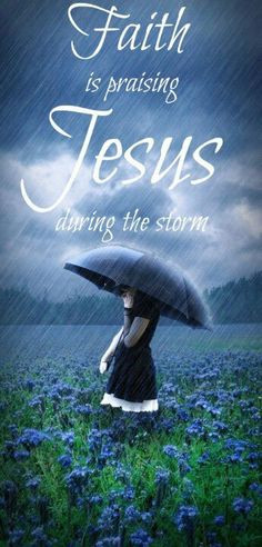 Praising God in the storm - thank you for blessing me, Lord. Even when ...