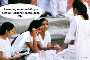 Mobile Recharge Girls and Boys Funny Hindi India