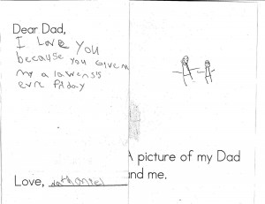Dear Dad, I love you because you give me my alawens's evre Friday.