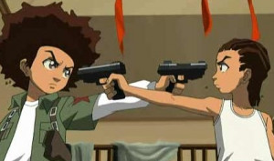 Riley and Huey Freemen the boondocks