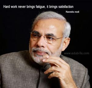 Hard work never brings fatigue It brings satisfaction
