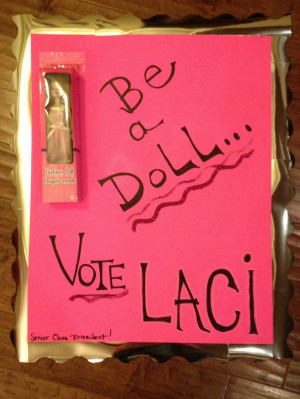 Senior class president election poster! :)Class President