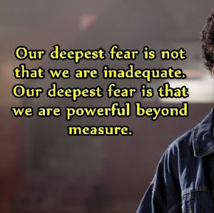 Our Deepest Fear Coach Carter Quotes