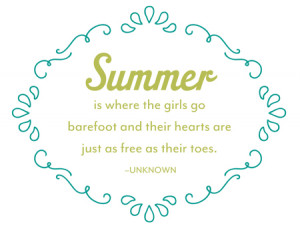 Weekly Wednesday Download: Summer Quotes