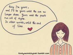 baby i'm yours -doodle (Arctic Monkeys)