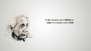Albert Einstein famous quotes saying scientists wallpaper