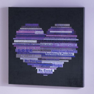 Graphic Quotes Wall Art - Black/Purple. CRAFT IDEA FOLKS!!!! :)