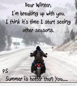 Dear winter quote summer is coming