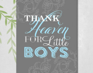 ... thank heaven for little boys - baby shower gift ideas - new baby gift