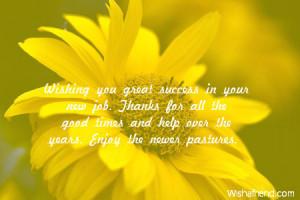 Wishing you great success in