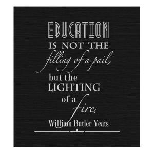 Back to School Basics #education #Yeats #quotes
