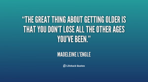 Famous Quotes About Getting Older