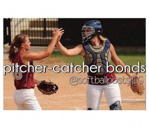 Pitcher catcher bond What a better team that pitcher-catcher sisters ...
