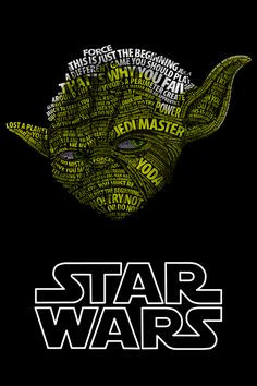 ... Posters, Art, Yoda, Star Wars, Stars Wars, Type Posters, Starwars