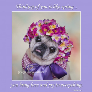 Gretta thinking of you is like spring pearls by Pugs and Kisses