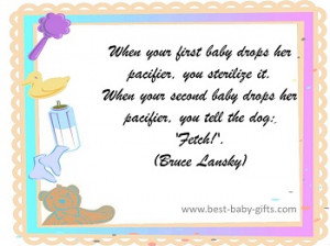 Messages For Funny Or Inspirational Baby Congratulations Cards: