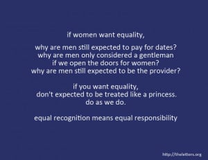 gender equality quote if women want equality why are men still ...