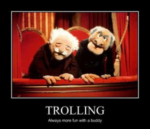statler and waldorf muppets trolling
