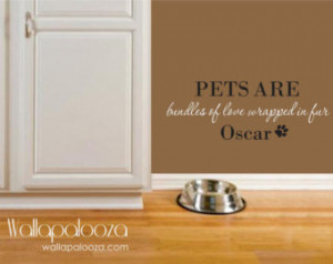 Pet Wall Decal - Pet Wall Quote - C ustom Pet Name wall decal - Dog ...