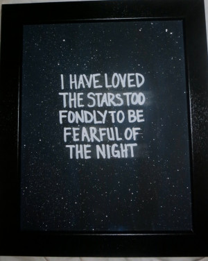 Night Sky 8x10 Quote Canvas.